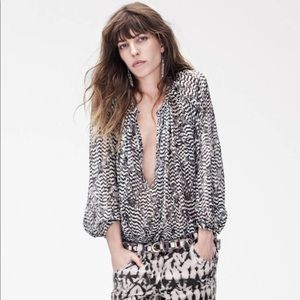 H&M Isabel Marant Silk Peasant Blouse